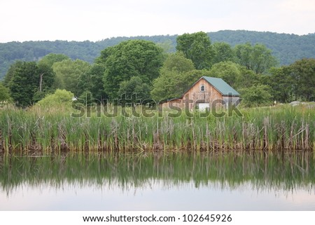 Lakeside Country Home - stock photo