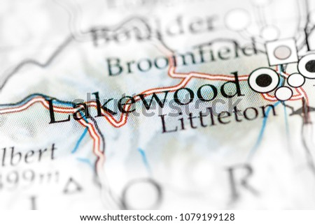 Lakewood Colorado USA On Map Stock Photo (Royalty Free) 1079199128 ...