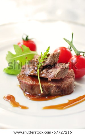 lamb fillet with teriyaki sauce