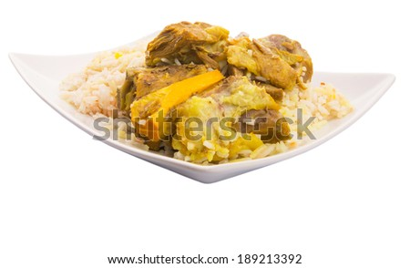 Lamb Kabsah Rice, a popular traditional middle eastern cuisine.