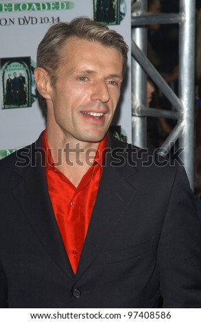 LAMBERT WILSON at the launch party, in Los Angeles, for the DVD release of The Matrix Reloaded. Oct 8, 2003  Paul Smith / Featureflash