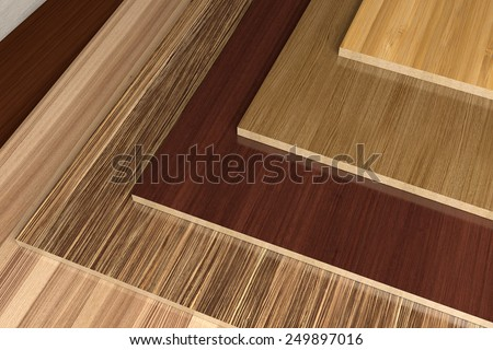 Laminated CPD. - stock photo