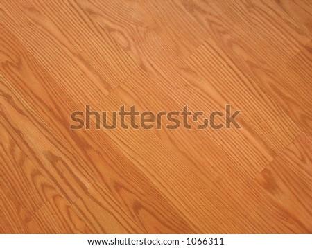 laminated flooring. diagonal. - stock photo