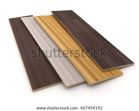 laminated sheet on white background (done in 3d) - stock photo