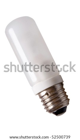 lamp bulb isolated on white background - stock photo