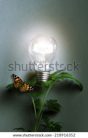 Lamp. Concept start up idea design. Background business creative conceptual image about success - stock photo