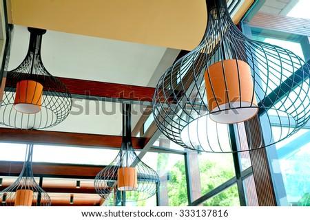 lamp decor - stock photo