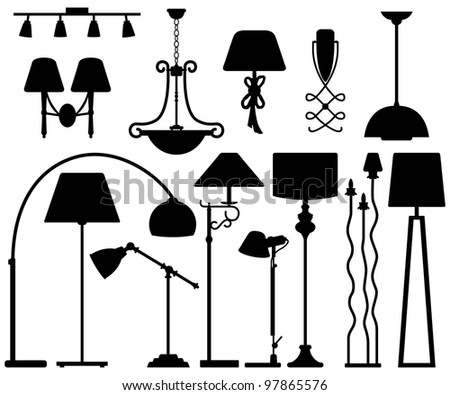 Lamp Design for Floor Ceiling Wall - stock photo