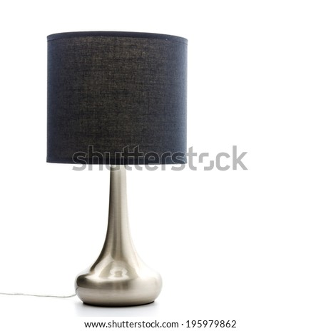 Lamp isolated on white - stock photo