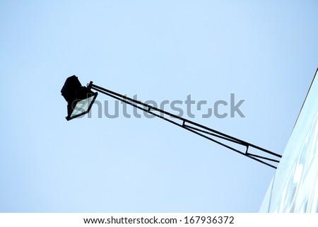 Lamp of billboard - stock photo