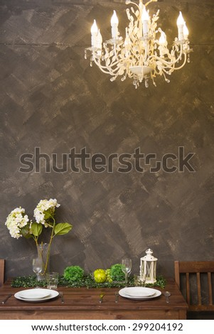 lamp on cement background - stock photo