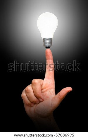 Lamp on finger
