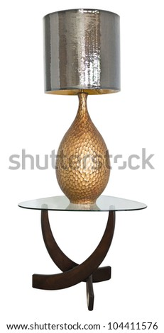Lamp on table with path - stock photo