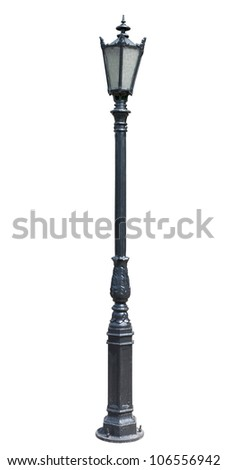 lamp post . street  lampost. streetlight collection. isolated on white background. - stock photo