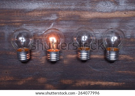 lamp.The solution concept - stock photo