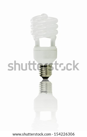 Lamp white with reflection. - stock photo