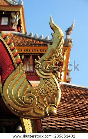 LAMPANG, THAILAND - NOVEMBER 18 : Wat Pong Sanook this Temple Thailand get Award of Merit by UNESCO in 2008. in Lampang, Thailand, November 18, 2014.