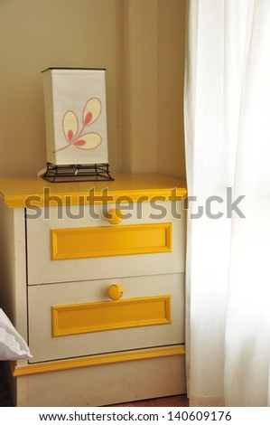 Lamps and cabinet - stock photo