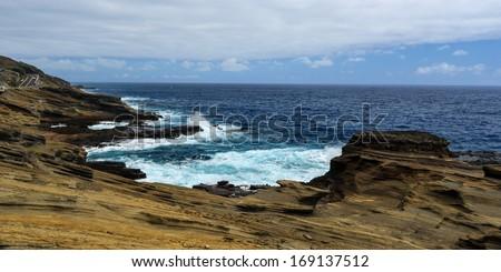 Lanai Lookout. East Oahu, Hawaii. - stock photo