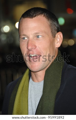 """LANCE ARMSTRONG at the Los Angeles premiere of """"We Are Marshall"""" at Grauman's Chinese Theatre, Hollywood. December 14, 2006  Los Angeles, CA Picture: Paul Smith / Featureflash - stock photo"""