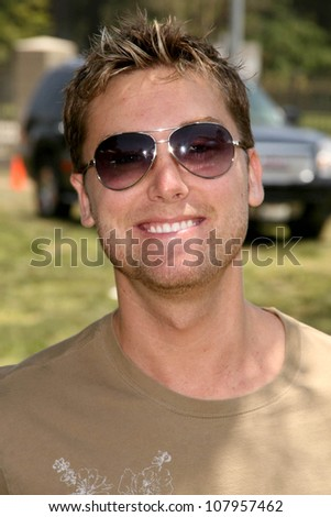 """Lance Bass  at """"A Time For Heroes Celebrity Carnival"""" benefitting the Elizabeth Glaser Pediatric AIDS Foundation. Wadsworth Theater, Los Angeles, CA. 06-08-08 - stock photo"""