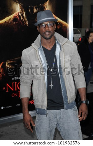 """Lance Gross at the """"Nightmare On Elm Street"""" World Premiere, Chinese Theater, Hollywood, CA. 04-27-10 - stock photo"""