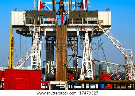 Land drilling rig(part) in Shengli Oil Plant,CHN