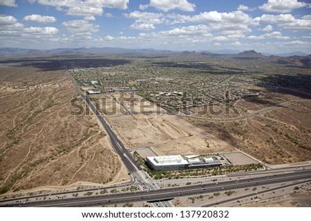 Land for mixed use development in North Scottsdale, Arizona - stock photo