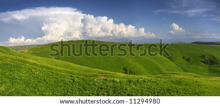 Land & sky - stock photo