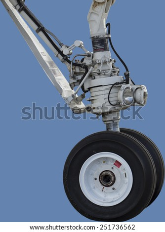 Landing gear of a private jet