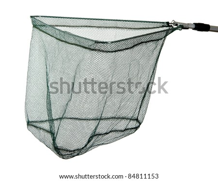 landing net isolated on white background