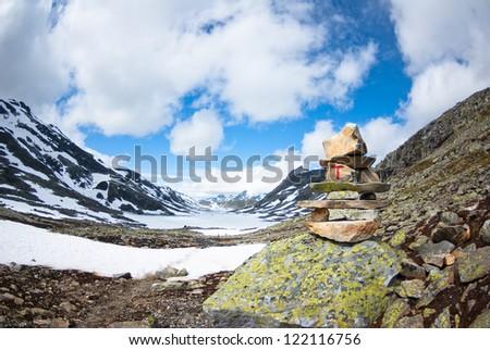landmark in Norway - stock photo