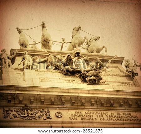 landmark of Brussels - stock photo