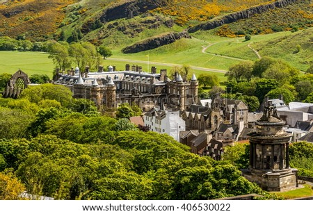 Landmark of Edinburgh - Holyrood Palace