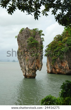 Landmark of James Bond island