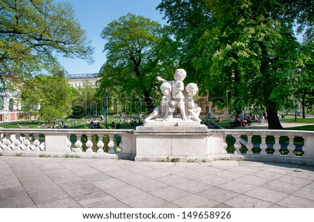 Landmark of Vienna, Austria. Burggarten in Vienna, Austria - stock photo