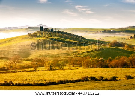 Landscape around Val d Orcia area, Tuscany, Italy