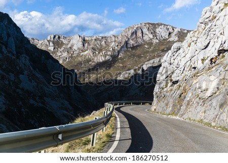 Landscape at Picos de Europa, Asturias, Spain - stock photo