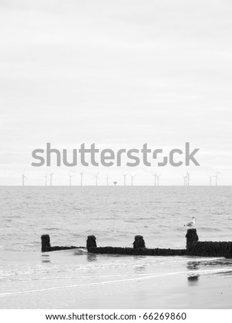 landscape beach image of frinton on sea in england uk