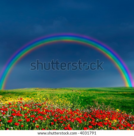 landscape before storm - stock photo