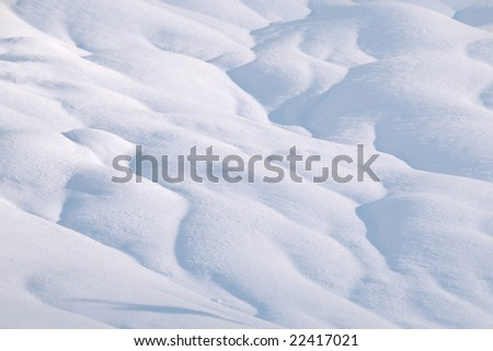 Landscape covered with snow