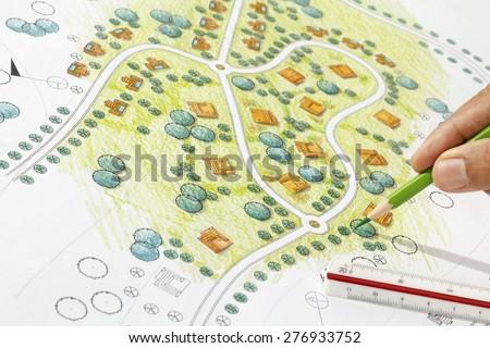 Landscape Designs Blueprints For Resort