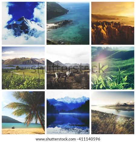 Landscape Destination Environment  Journey Trip Concept - stock photo