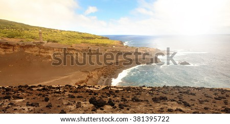 Landscape from Faial Island, Azores, Portugal - stock photo