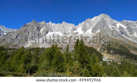 Landscape from Val Ferret, in the Mt.Blanc massif