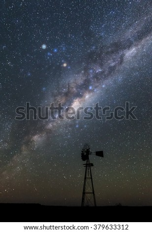 landscape image of the milkyway  - stock photo