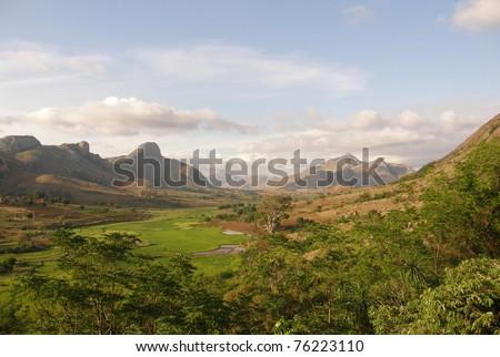 Landscape in Anja, Madagascar - stock photo