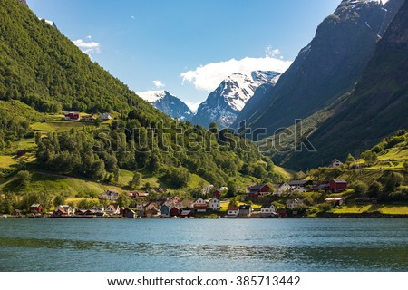 Landscape in Flam, Norway.
