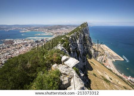 Landscape in Gibraltar, UK. - stock photo