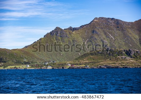 Landscape in Lofoten Islands, Norway.
